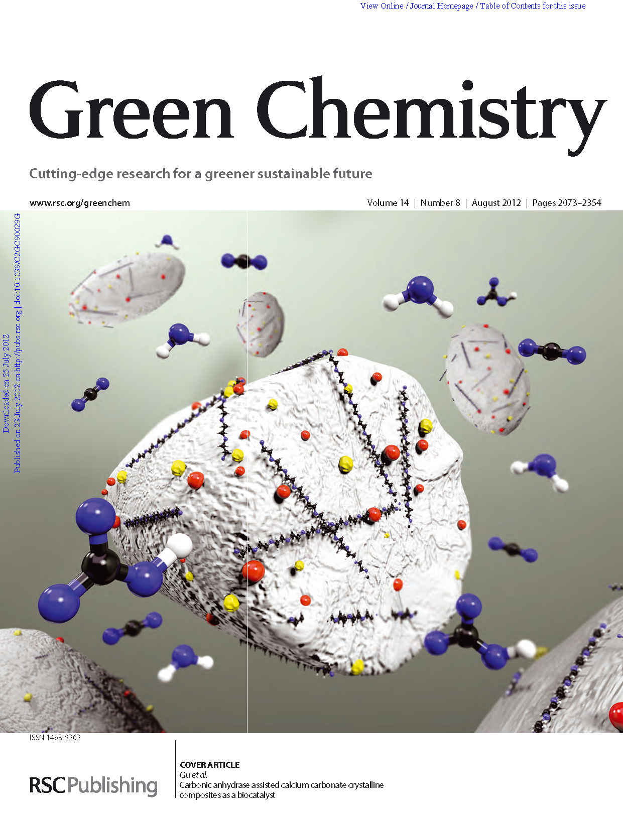 green chemistry research papers The ivory tower goes green green chemistry new title complements other journals that cover green chemistry and sustainability research calls for papers.